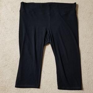 Womens Plus Size Yoga Capri Pants